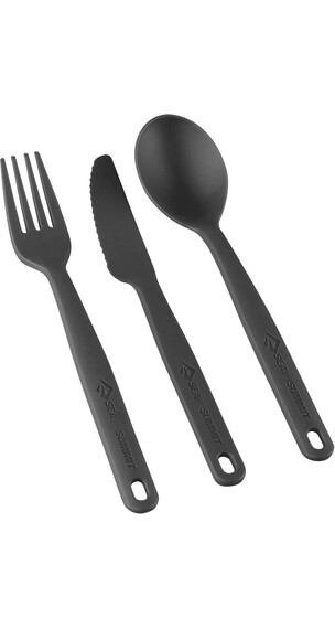 Sea to Summit Camp Cutlery Set 3 Pieces Charcoal